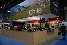 Representatives from Chile conducted food demonstrations in the exhibition kitchen portion of the country's pavilion.
