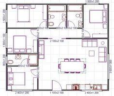 Distribuci n y medidas de los muebles en un sal n for Plano habitacion online