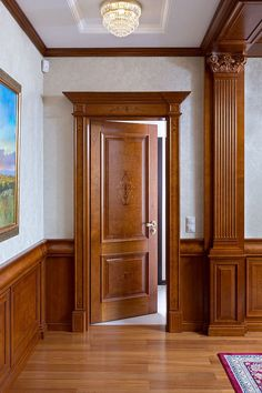 Classic Wooden Door Entrance 19 Ideas For Best Picture For big wooden doors For Your Taste You are looking for something, and it is going to tell you exac Wooden Door Design, Main Door Design, Front Door Design, Wooden Doors, House Doors, Room Doors, Door Frame Molding, Door Frames, Door Design Interior