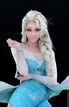 Elsa. Is this cosplay? I can't even tell.