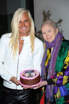 Paparazzi pic of Daniel DiCriscio & Sally Kirkland at Daniel's 9th Annual Birthday at Catch LA. West Hollywood, CA (Pic by G. Proano/Pacific Coast News)