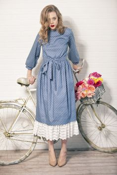 cotton dress with krugom - www.evashafranshop.ru & http://vk.com/evashafranshop