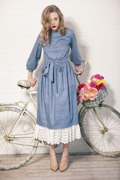 cotton dress with krugom - www.evashafranshop.ru & http://vk.com/evashafranshop