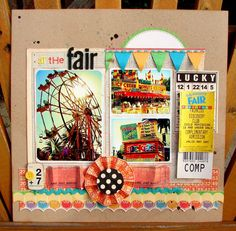 #papercraft #scrapbook #layout. At the fair.. by evangelina @2peasinabucket