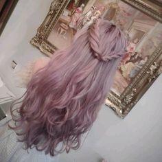 Image about hair in cabello by Lisbeth Yessenia Coloured Hair, Dye My Hair, Mermaid Hair, Rainbow Hair, Purple Hair, Purple Lilac, Pastel Pink, Ombre Hair, Blonde Hair