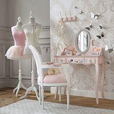 wooden 3 hook rail in pink | Maisons du Monde