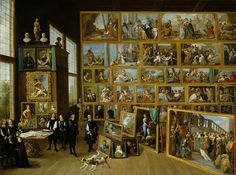 David Teniers the Younger: The Archduke Leopold Wilhelm in his gallery in Brussels, 1651