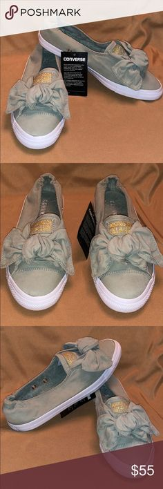 84517c863af Converse Knot Slip NWT women s converse Sage in color Comfortable ankle  stretch Runs true to size
