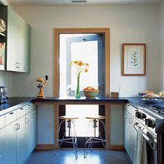 New kitchen layout galley breakfast bars Ideas Kitchen Inspirations, Breakfast Bar Kitchen, Beautiful Kitchen Designs, Home Trends, Kitchen Makeover, Kitchen, Kitchen Design, Kitchen Bar, Kitchen Layout