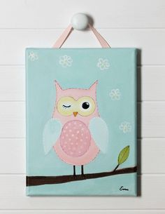 Blush Owl Craft project...owl and a bird