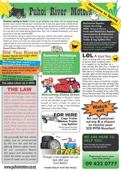 A4 Newsletter to encourage repeat business.