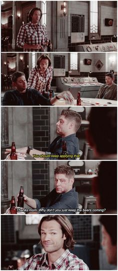 I love seeing Sam take care of Dean! 11x03 The Bad Seed