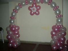 Balloon arch - link o loon Birthday Balloon Decorations, Balloon Centerpieces, Birthday Balloons, Baby Shower Decorations, Balloon Columns, Balloon Arch, Balloon Garland, Frozen Birthday Party, Baby Shower Balloons