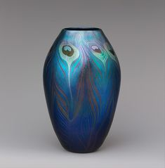 Vase -  Designer: Designed by Louis Comfort Tiffany (American, New York 1848–1933 New York) Maker: Tiffany Glass and Decorating Company (1892–1902)