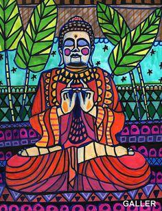 Original Buddha Painting by Heather Galler  by HeatherGallerArt