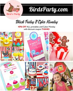 Black Friday Sale: -40% on ALL Party Printables in Store with this Exclusive Code !! #BlackFriday #CyberMonday #sale