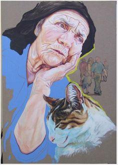Cristina Troufa Ap Studio Art, Contemporary Art Artists, Modern Art, Cristina Troufa, Rainbow Art, Pastel Drawing, Portraits, Art Sketchbook, Art Studios