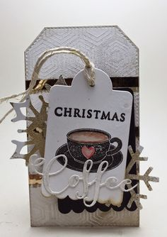 Homemade Cards by Erin: Holiday Coffee Blog Hop, Christmas Coffee tag