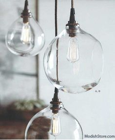 Roost Glass Bubble Lamps & Edison Candelabra Bulbs   Roost Pendant Lamps – Modish Store