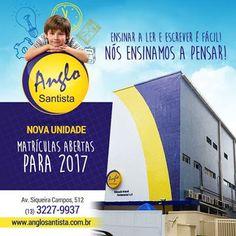 FIRE Mídia - Google+ https://www.facebook.com/anglosantista/photos/a.691079680983745.1073741829.676160115809035/1142099555881753/?type=1&theater  NOVA UNIDADE! Matrículas Abertas! Av. Siqueira Campos, 512 Ligue Agora: (13) 3227-9937 www.anglosantista.com.br  #escola #anglosantista #santos #novaunidade #redessociais #mkt #matriculasabertas #2017 #ensino #educacao #santoscity