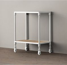 Dutch Industrial Cart as nightstand