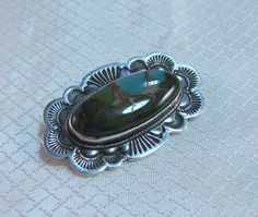 Rare Apache Silversmith Al Somers Sterling and Turquoise Brooch by newoldjewels on Etsy