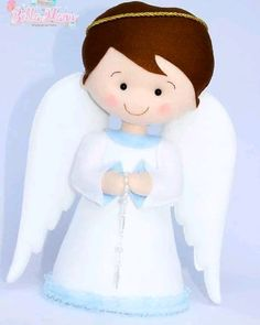 Com - AmigurumiHouse Christmas Angel Decorations, Felt Christmas Ornaments, Angel Ornaments, Christmas Angels, Christmas Crafts, Crafts For Kids, Arts And Crafts, Angel Crafts, Baptism Party