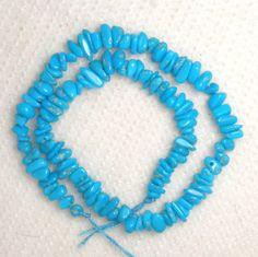 "Sleeping Beauty Turquoise Gemstone Chip Beads Blue 9"" Delicate Grade AA # 162A #SleepingBeauty #Southwest"