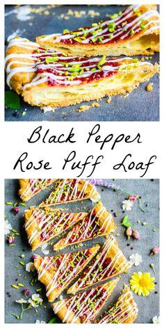 Black Pepper Rose Puff Loaf