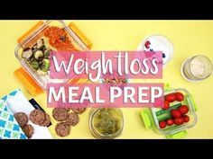 EASY MEAL PREP WITH ME! | Healthy Meal Prep for Weight Loss - YouTube