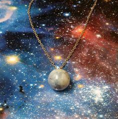 Pluto jewelry  Pluto necklace  Space necklace  by DarkFireHandmade