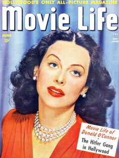 Hedy LAMARR is an American actress, producer and inventor, born Hedwig Eva Maria KIESLER on 9 November 1914 in Vienna (Austria-Hungary), died January 2000 in Altamonte Springs, Florida. She is one of the mythical actresses of American cinema. Star Magazine, Movie Magazine, Pulp Magazine, Life Magazine, Magazine Covers, Vintage Hollywood, In Hollywood, List Of Magazines, Donald O'connor