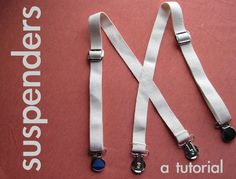 These suspenders literally took me TEN MINUTES, I timed myself, that's 10 minutes to make them and to take photos for this tutorial! That's...