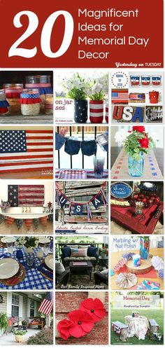 Get ready for summer with these 20 magnificent ideas for Memorial Day decor (4th of July as well!).