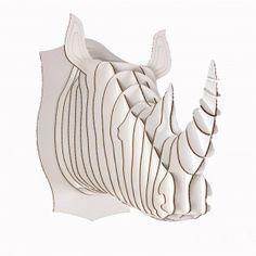 Tête de rhino grand modèle - Fleux'
