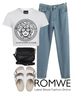 """""""Laxity"""" by catherinem ❤ liked on Polyvore featuring Birkenstock, Michael Kors, vintage, romwe and contestentry"""
