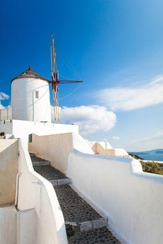 Windmill in Oia - Santorini, Greece