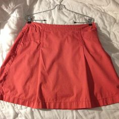 Vintage JCrew Chino skirt in salmon/Nantucket red Old School JCrew retail Chino twill A-line Spring/Summer skirt. Salmon/Nantucket Red color. Was a size 6, but I had it taken in to a size 4. Side zip, and has pockets. No tears, stains or discoloration. Offers welcome!! J. Crew Skirts A-Line or Full