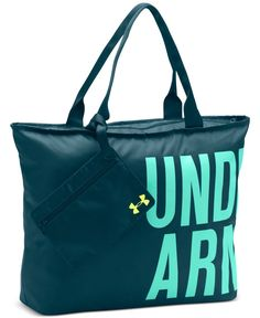 "Take it with you in style with this roomy tote bag from Under Armour. | Polyester | Spot clean | Imported | Polyester | Double shoulder straps with 12"" drop 