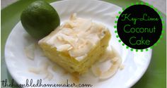 Gluten Free Key-Lime Coconut Cake - TheHumbledHomemaker.com