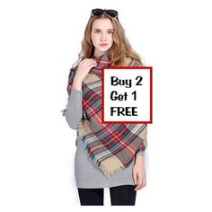Scarf Tartan Plaid Checkered Big Squares Women's Fashion Excellent... (€13) ❤ liked on Polyvore featuring accessories, scarves, tartan plaid blanket scarf, oversized blanket scarf, christmas scarves, blanket scarf and checkered scarves