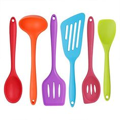 Hubo Silicone Kitchenware Utensil Set 6 Pcs Multicolor Cooking Tool Nonstick Shovel High Temperature