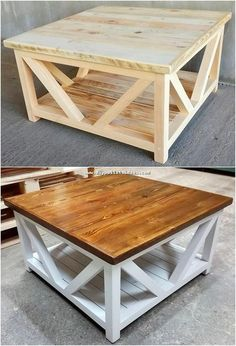 Availing the use of wood pallet in the table form of structure designing is one of the dramatic idea to try out right now. See this image of awesome wood pallet project into which the table has been functionally set with the wood pallet material.