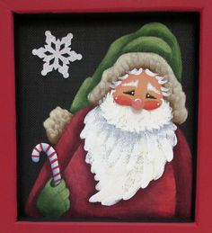 Image result for tole painted santa faces