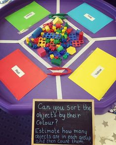 🌈 Maths sorting, estimating and counting activity. Including tweezers for fine motor skill practise and lots of colour! Maths Eyfs, Eyfs Classroom, Eyfs Activities, Nursery Activities, Motor Skills Activities, Color Activities, Fine Motor Skills, Learning Activities, Preschool Activities