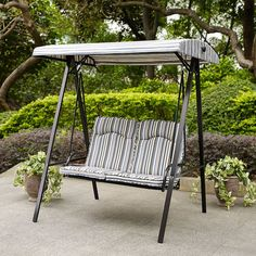 C Coast Pacific Ridge 2 Person Striped Canopy Swing From Hayneedle