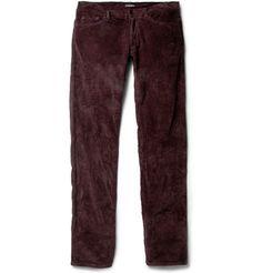 Bottega Veneta Slim-Fit Stretch-Cotton Corduroy Trousers | MR PORTER