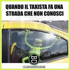 Mai provato questa sensazione? Tagga i tuoi amici e #condividi #bastardidentro #taxi #strada #kermit www.bastardidentro.it