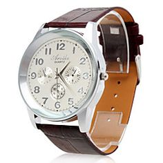 Men's Watch Dress Watch Big Numerals. Grab substantial discounts up to 50% Off at Light in the Box using Coupons & Promo Codes