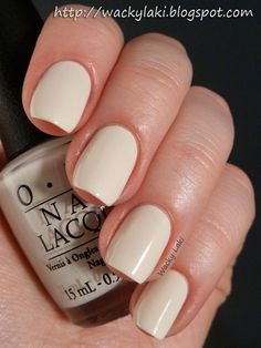 opi-my vampire is buff  a soft ivory cream, soft pretty vintage look